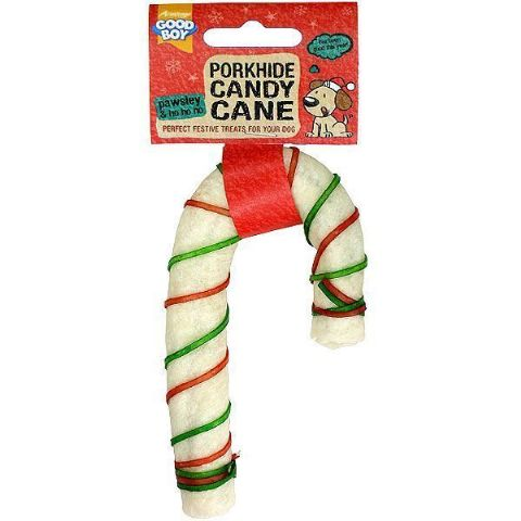 Good Boy Pork Candy Cane Christmas Dog Treat PACK OF TWO